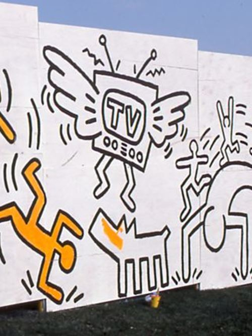 Keith Haring Construction Fence